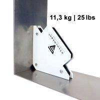 Conjunto de escuadras de soldadura magnéticas, 3 piezas, 25/50/75 lbs