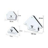 STAHLWERK ángulo de soldadura magnética juego de 6 piezas