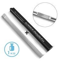 Varillas para soldar TIG STAHLWERK ER4043Si5 aluminio de alta aleación / Ø 2,4 mm x 500 mm / 1,0 kg Caja de almacenamiento incluida