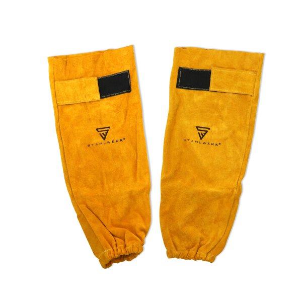 Protección para brazos/ mangas de soldadura, accesorio de soldadura hecho de cuero