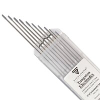 10 x electrodos de tungsteno 2,4 x 175 WC20 gris